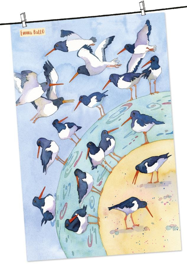 """Printed in the UK. Emma Ball /""""Northern Ireland/"""" Pure cotton tea towel"""